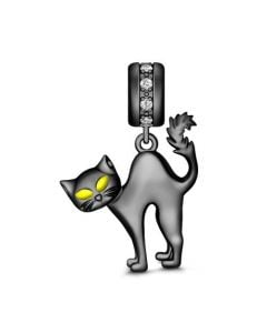 Black Cat Pendant Sterling Silver
