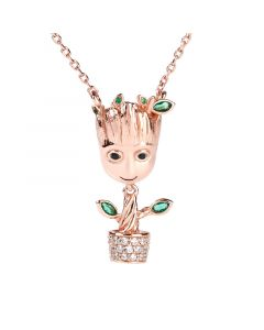 """""""I am Groot"""" Tree Man Sterling Silver Dangle Necklace"""