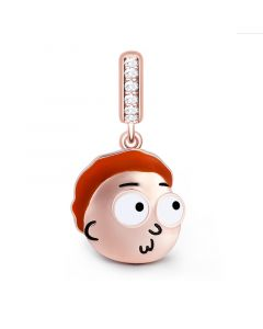"""My Life has been a Lie"" Morty Smith Sterling Silver Dangle Charm"