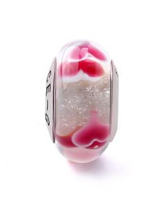 Red Heart Glass Charm