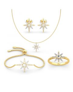 Jeulia Two Tone Star Sterling Silver Jewelry Set