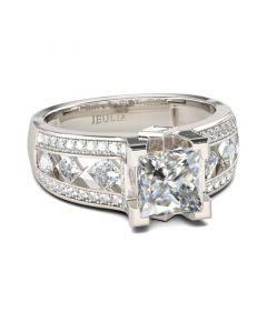 Classic Princess Cut Sterling Silver Ring