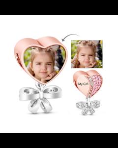 My Precious Daughter Pink Stones Photo Charm