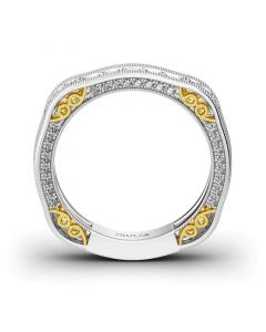 Irregular Two Tone Sterling Silver Women's Band