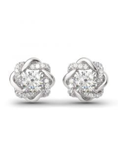 Knot of Love Sterling Silver Stud Earrings