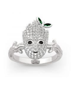 "Jeulia ""I am Groot"" Sterling Silver Ring"