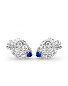 Jeulia Luxury Goldfish Sterling Silver Stud Earrings