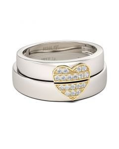 Heart Shape Sterling Silver Women's Band