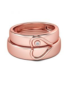 Jeulia Heart Tungsten Steel Women's Band