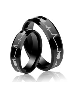 Two Tone Titanium Steel Women's Band