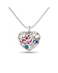 Birthstone Heart Pendant Necklace