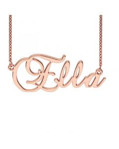 Personalized Brockscript Style Name Necklace