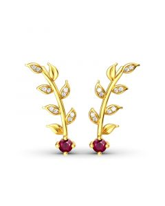 Golden Leaves Earring Climber