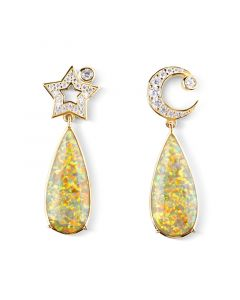 Dream Moon and Star Drop Earrings