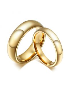 Simple Couple Rings Tungsten Steel