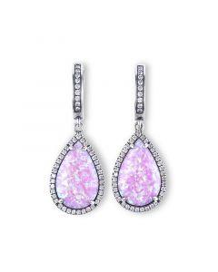 Dreamlike Pink-Purple Opal Earrings