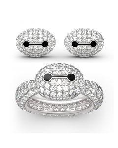 Superhero Baymax Inspired Sterling Silver Jewelry Set