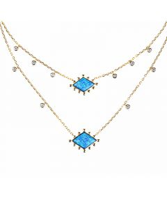 Stardust Opal Double Layered Necklace