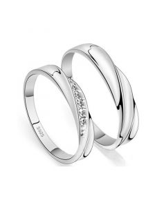 Twist Couple Rings Sterling Silver