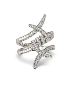 Entangled Sterling Silver Cocktail Ring