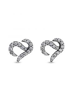Jeulia Logo Shape Commemorative Sterling Silver Stud Earrings