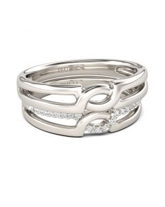 Simple Crossover Sterling Silver Band Set