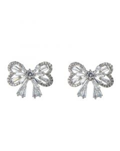 Bowknot Sterling Silver Stud Earrings