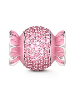 Pink Candy Charm Sterling Silver