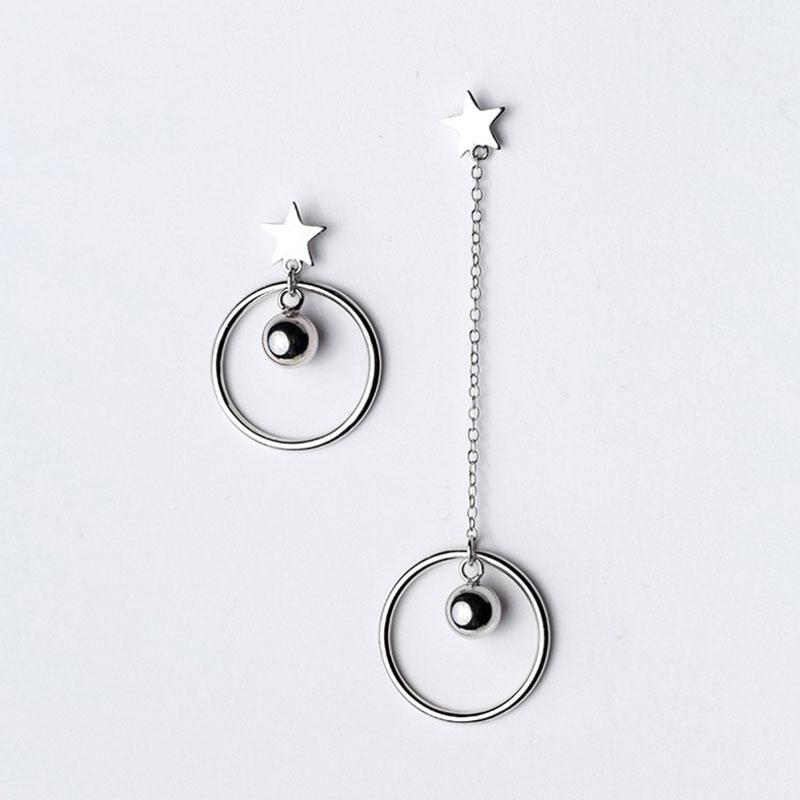 Star Asymmetric Earrings Drops, JEED0019