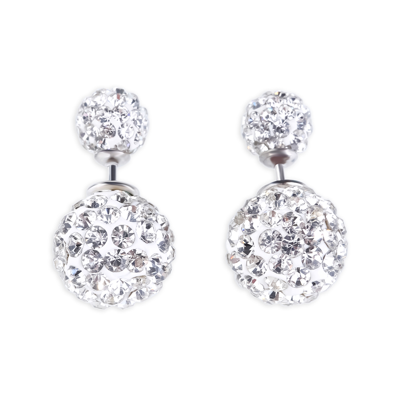 Buy Ball Shape Sterling Silver Stud Earrings, JEES0005 for $56.00 in Jeulia store