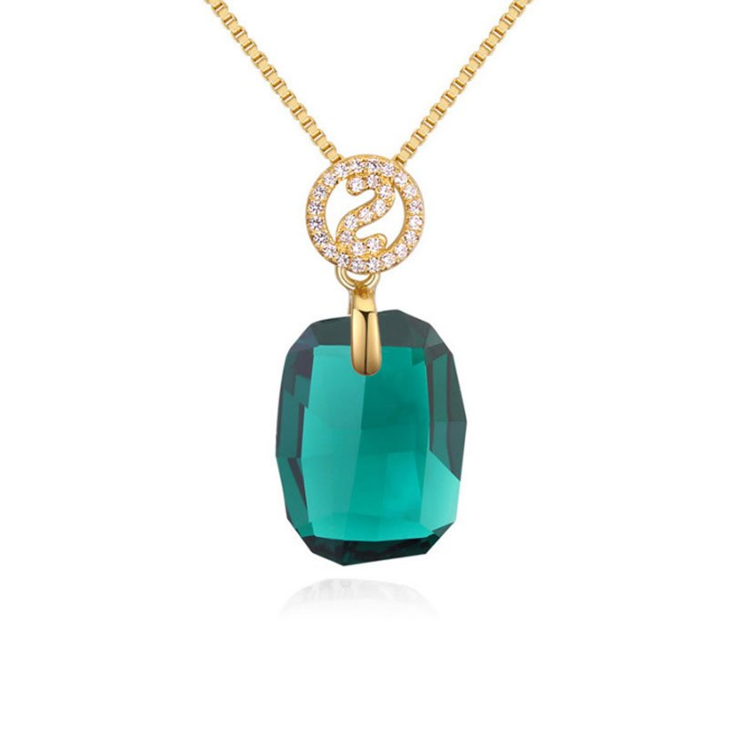 Buy Gold Tone Large Stone Necklace, JENF0022 for $75.00 in Jeulia store
