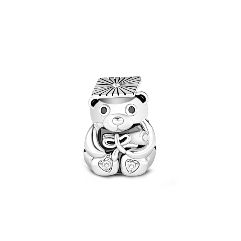 Buy Trencher Cap Bear Charm Sterling Silver, AJCT37 for $29.00 in Jeulia store
