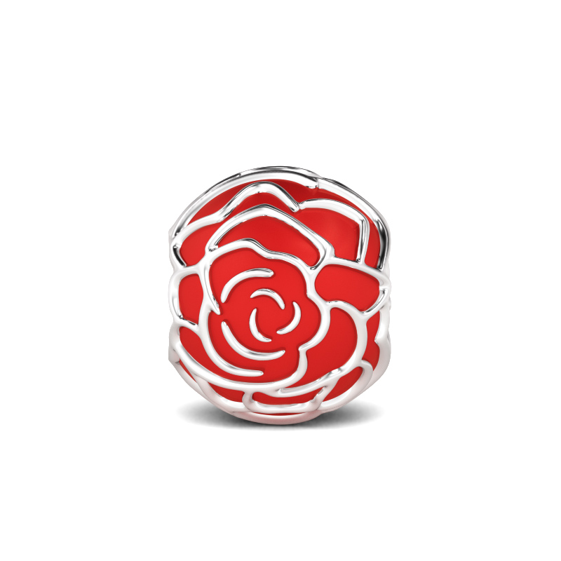 Buy Red Rose Charm Sterling Silver, AICS05 for $29.00 in Jeulia store